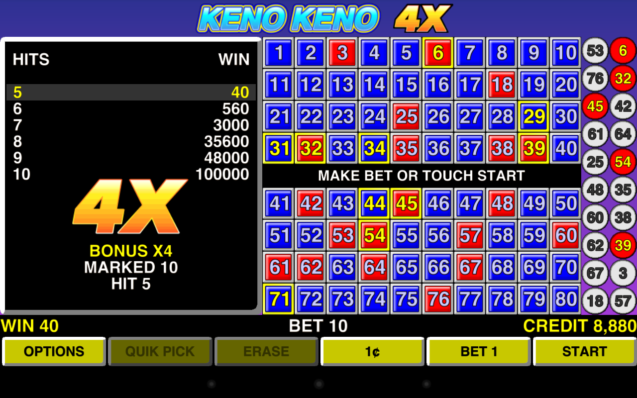 Empire Keno - Free Casino Game - Play Now