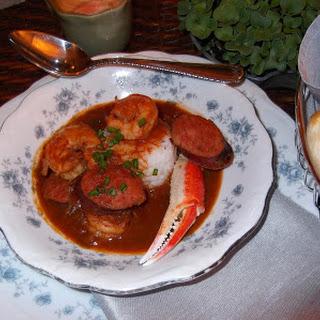 Seafood and Sausage Gumbo.