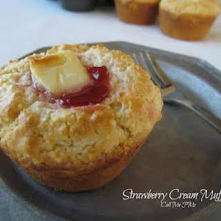 Strawberry Cream Muffins.