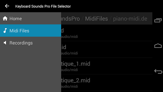 Keyboard Sounds Pro - MIDI/USB screenshot 1