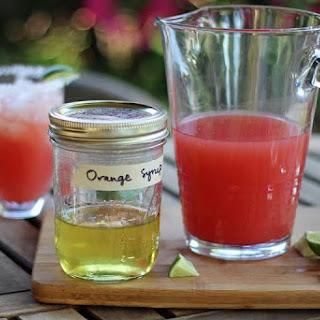 Orange Simple Syrup.