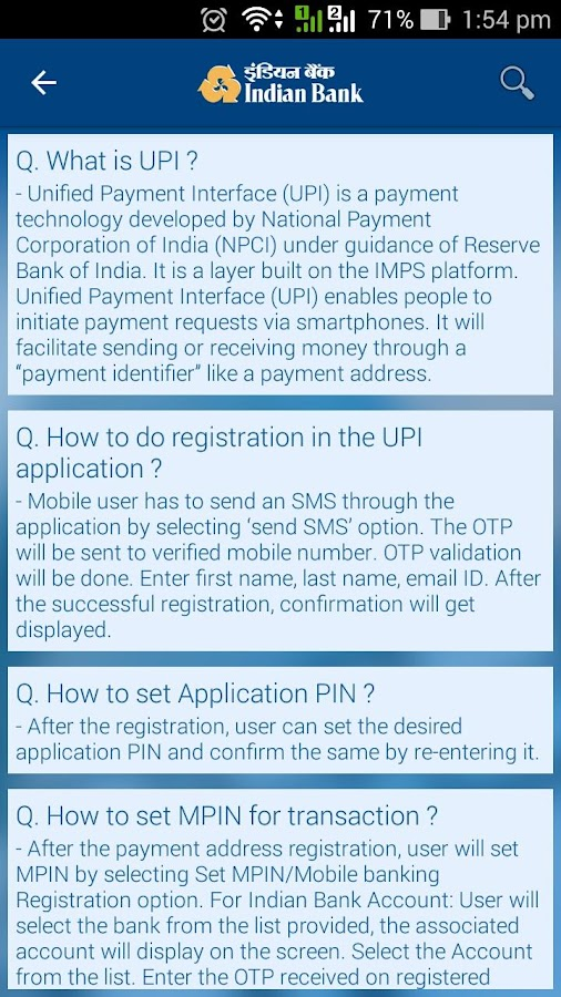 Indian Bank Upi  Android Apps On Google Play