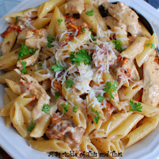 Creamy Chicken Pasta with Sun Dried Tomato