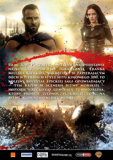 Tył ulotki filmu '300: Początek Imperium'