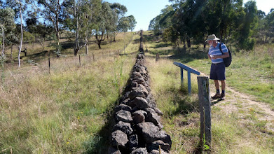 Photo: Tuggeranong Boundary or Stone Wall with Roger