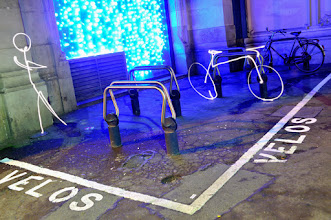 Photo: Deux roues - Light painting by Christopher Hibbert, french photographer and light painter. Further information: http://www.christopher-hibbert.com