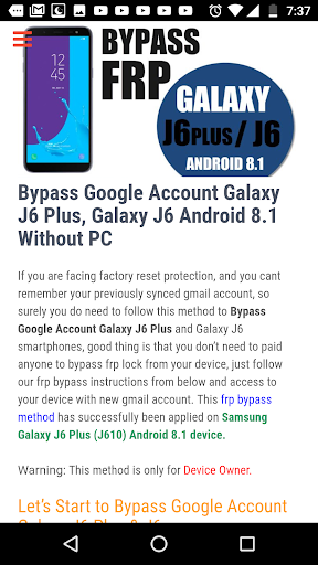 Bypass FRP Lock hack tool