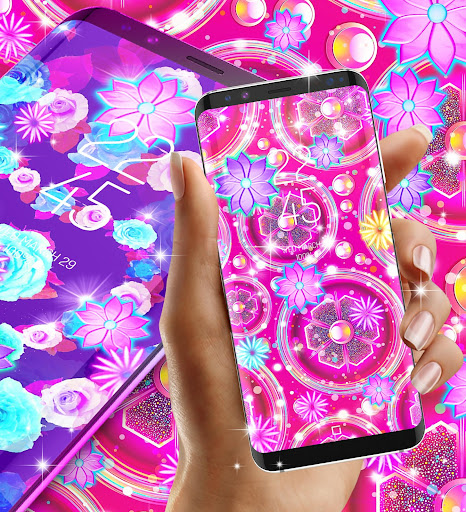 Neon flowers live wallpaper ss3