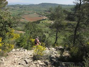 Photo: We descend into farmland ...