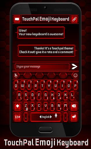 TouchPal Emoji Red Theme