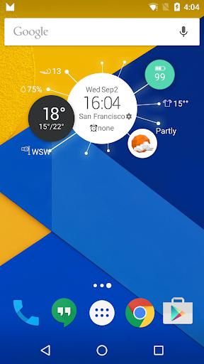 Clock Weather Circle