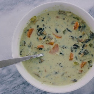 Lemon, Basil, and Mushroom Soup.