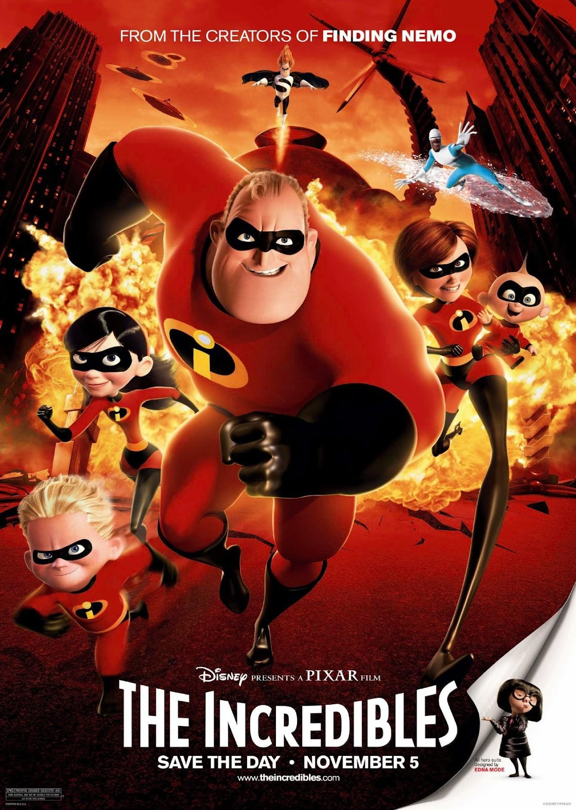 Official poster of the Incredibles