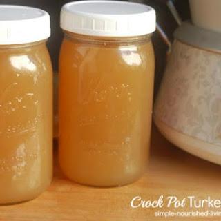 Crock Pot Turkey Broth