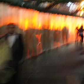 Walking Among The Shadows by VAM Photography - Abstract Light Painting ( abstract, park, color, places, nyc,  )