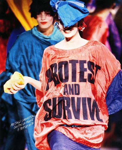 Activist And Icon Katharine Hamnett Cbe British Fashion Council Google Arts Culture