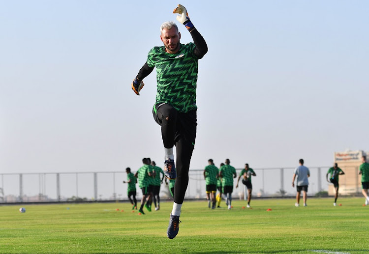 Bafana Bafana goalkeeper Darren Keet during a training session in Egypt, Cairo.