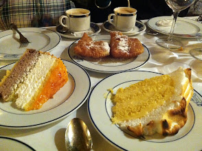Photo: The time when we tried these desserts at El Botin. Favorite was definitely the tarta de San Marcos (far left).