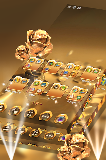 Rose Gold Launcher Theme  screenshots 1