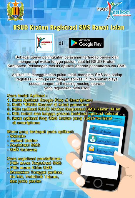 RSUD Kraton Registrasi SMS Rawat Jalan