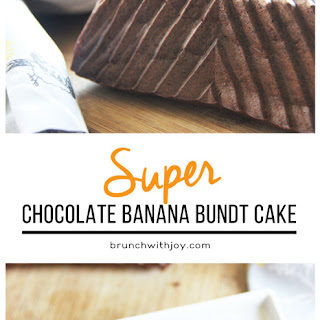 Super Chocolate Banana Bundt Cake