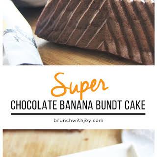 Super Chocolate Banana Bundt Cake.