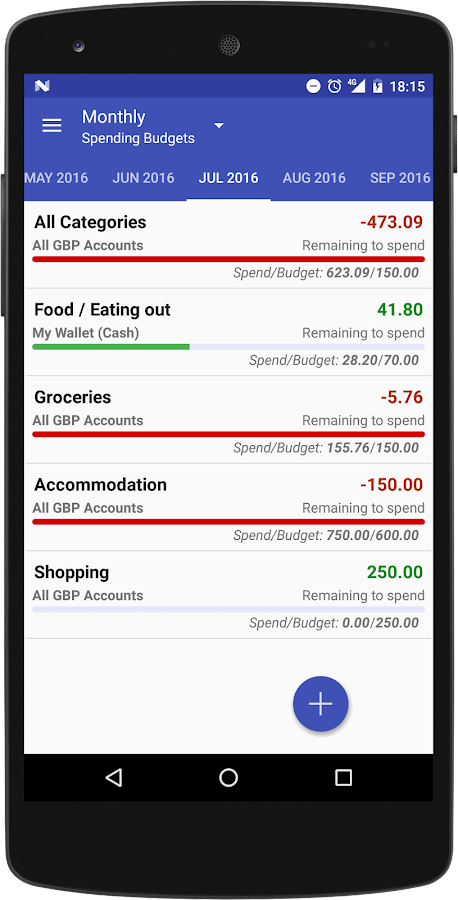 Just Money - Expense Manager- screenshot