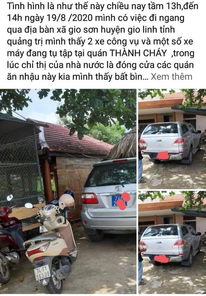 Quảng Trị: Người tung ảnh lãnh đạo vào quán nhậu bị yêu cầu gỡ thông tin - Ảnh 2