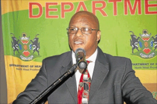 APPEAL: North West health MEC Magome Masike