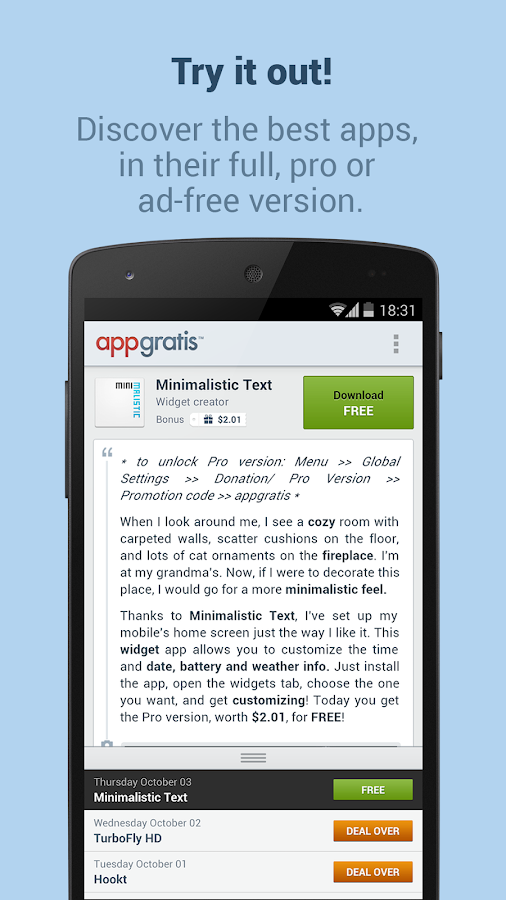 AppGratis - Cool apps for free- screenshot