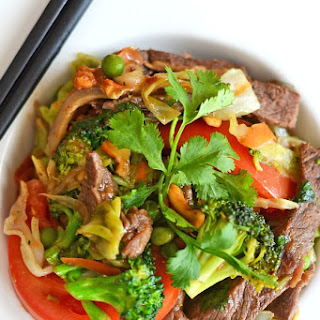 Broccoli Beef and Cabbage Stir Fry Inspired by Blue Dragon #BlueDragonMeals.