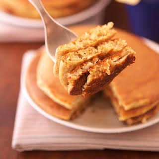 Banana Oatmeal Protein Pancakes.