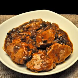 Pork Tenderloin with Mushroom Sauce.