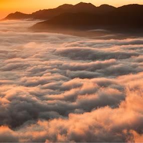 Lake of clouds by Kaushik Dolui - Landscapes Prairies, Meadows & Fields ( lake-kaushik )