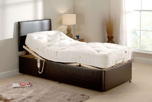 Classic Adjustable single Bed in a bedroom