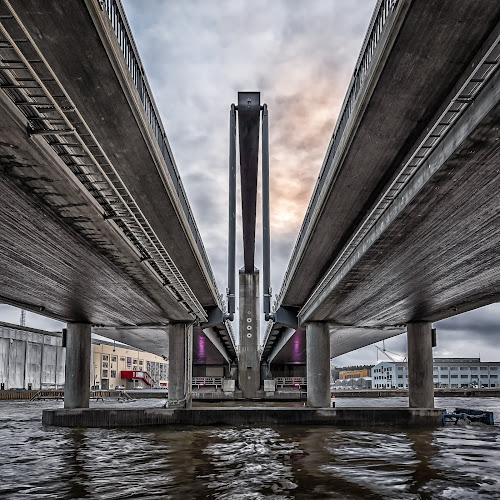 Under the Bridge by Jørgen Schei - Buildings & Architecture Bridges & Suspended Structures ( sky, cloudy, hdr, bridge, river, architecture )