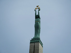 Photo: The three stars represent the three regions of Latvia