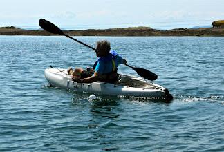 Photo: Ron's swift kayak at work.