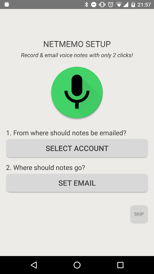 Netmemo Voice Recorder for GTD- screenshot