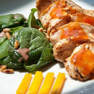 Paula's Pork Tenderloin-N-Peach Salsa Sauce.
