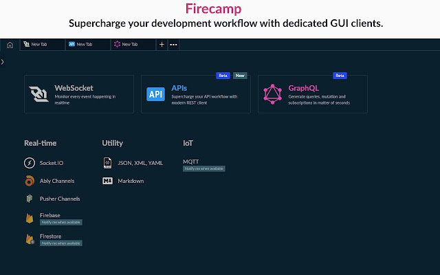 Firecamp, A campsite for developers