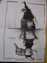 "Photo: Costume design sketch for ""At the Black Pig's Dyke"" written by Vincent Woods. 1992."