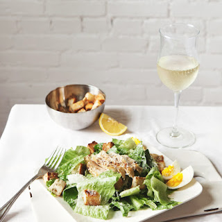 Caesar Salad with Rosemary Ciabatta Croutons + Grilled Chicken