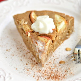Healthy Cinnamon Oat Apple Pie {GF, Low Cal}