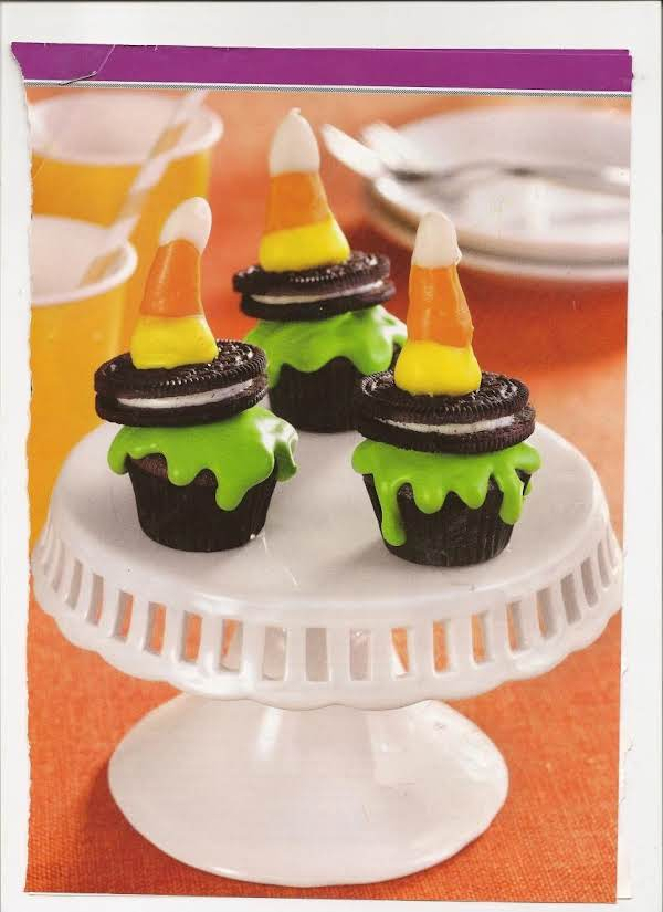 Melted Wicked Witch Cupcakes