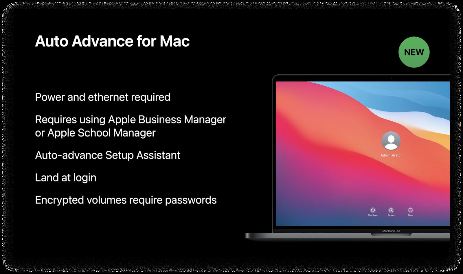 auto advance for macOS Big Sur