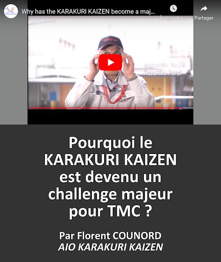 VIDEO en replay : Pourquoi le KARAKURI KAIZEN est devenu un challenge majeur pour TMC ? Par Florent COUNORD d'AIO KARAKURI KAIZEN