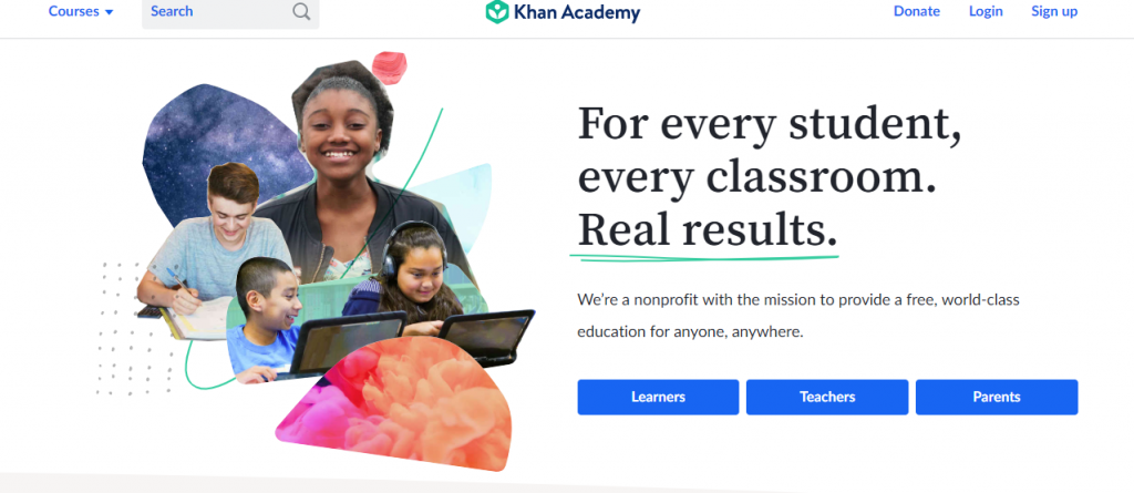 World known Khan Academy excels in giving out the best teaching resources