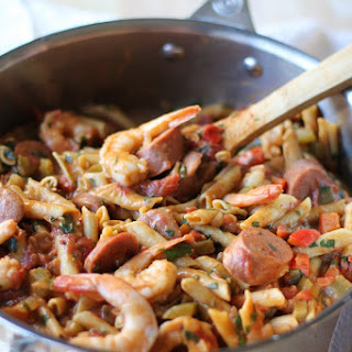 One Pot Shrimp Gumbo Pasta