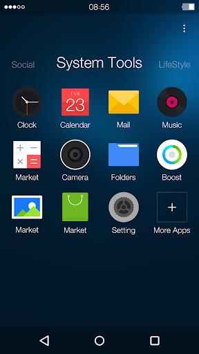 Night: DU Launcher Theme screenshot 2
